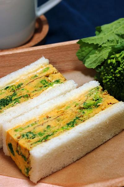 【レシピ掲載】菜の花と厚焼き卵の春サンド